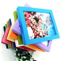 木质礼品相框 平板实木相框 照片墙 6寸