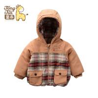 童泰儿童冬季衣服 男女童带帽棉上衣加厚保暖外套宝宝棉袄D80821
