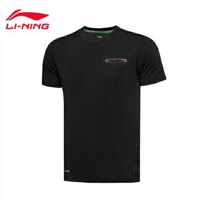 李宁男子夏季训练系列速干短袖T恤男士休闲运动服ATSL061
