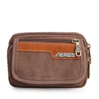 新款可穿皮带两用腰包手腕包时尚便携拼接 手机包运动包