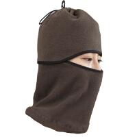 新款加厚抓绒帽蒙面帽子防风保暖帽 骑行头套围脖CS面罩