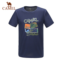 camel骆驼户外速干T恤 春夏款男女情侣透气短袖T恤