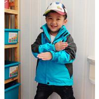 儿童含内胆保暖冲锋衣 户外百搭时尚男女童孩户外上衣