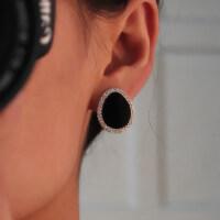 韩版亚克力水滴 无耳洞耳夹 女士镶钻时尚耳钉 耳饰