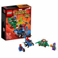 新品乐高超级英雄76064迷你战车:蜘蛛侠对战绿恶魔LEGO积木