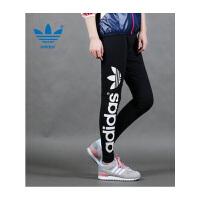 Adidas 三叶草 16春夏新款 女子紧身裤打底裤休闲长裤AJ8081