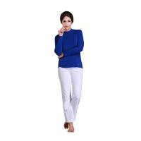 铜牛内衣 女士春秋薄款修身镶水钻打底衫 舒适水晶半高领女衫 6523-5388