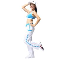 新款广场舞服装健身服 跳操服 女士时尚休闲运动背心套装