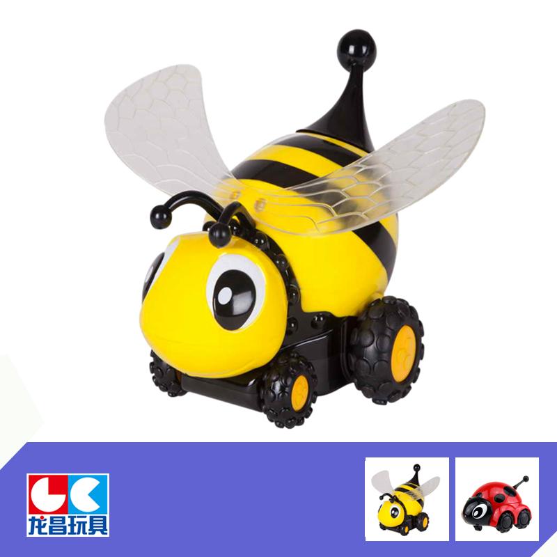 【龙昌电动/遥控蜜蜂】龙昌动物车飞翅女人模瓢虫梦见老虎挡道图片