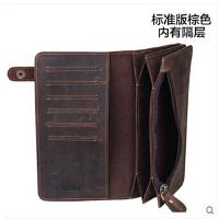 新潮复古个性中国风钱包男长款真皮 大容量 牛皮手拿包