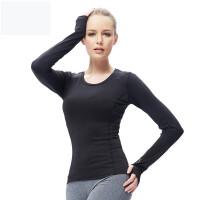 新款女士长袖运动服T恤运动卫衣女瑜伽服休闲上衣