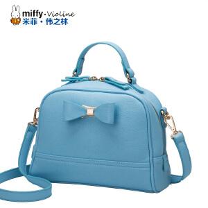 Miffy米菲 2016新款时尚潮蝴蝶结单肩斜跨女包 欧美简约复古手提通勤包