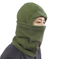 加厚抓绒帽 蒙面帽子防风保暖 帽骑行头套围脖帽面