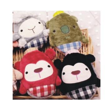 用布织布做小动物冒子的图片