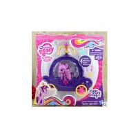 正版 小马宝莉女孩玩具 过家家可爱标志彩虹列 紫悦公主马车套装