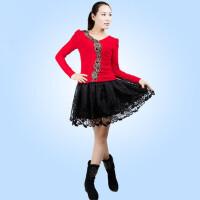 广场舞服装套装女式上衣短袖短裙中老年跳舞蹈服