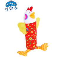 拉拉布书花母鸡摇棒0-3岁婴儿儿童牙胶布玩手摇铃LALABABY