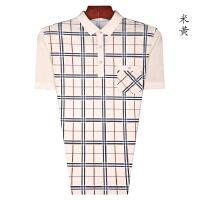 特价夏装男士polo衫 舒适男式简单经典格时尚翻领T恤短袖中年男装