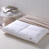 优雅100纯棉羽丝绒枕芯 丝柔亲肤枕 护颈枕 枕头 白色 1000g 48*74cm
