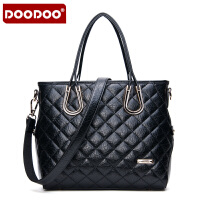 【支持礼品卡】DOODOO 2017新品时尚包包女包女款单肩手提菱格手包斜跨女士大包包 D5092