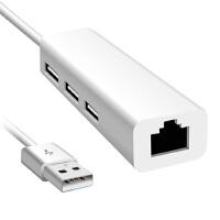 苹果 macbook air pro retina 11寸 13寸 15寸 以太网转接器 分线器 macbook网线网卡转换器 苹果电脑USB转接口 air网线转换器