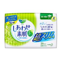 [当当自营] 花王 乐而雅 F透气棉柔 超丝薄日用护翼型进口卫生巾 22.5cm 20片