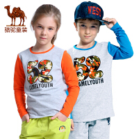 camel骆驼户外童款卫衣 春季新款青少儿童圆领长袖卫衣