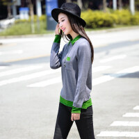 新款韩版时尚休闲套头毛衣女装POLO领打底毛衣
