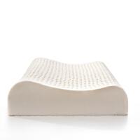 绚典家纺 记忆枕头颈椎枕头芯 乳胶枕头 泰国天然乳胶颗粒波浪枕