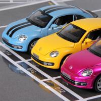 彩珀原厂家仿真合金汽车模型 大众甲壳虫玩具孩子生日圣诞节礼物