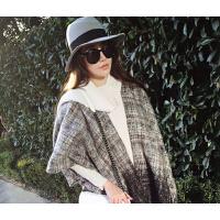 新款时尚韩版欧美女新款开叉披肩外套开衫坎肩