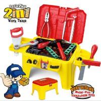 多功能儿童修理工具箱玩具仿真过家家套装拆男孩宝宝维修工具台椅