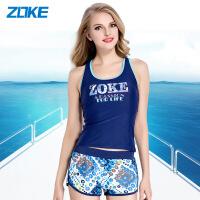 ZOKE韩式泳装女分体平角裤保守学生健美运动沙滩大码女式温泉泳衣115501342