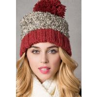 新款针织帽欧美绒线毛线帽加厚保暖护耳帽子可爱甜美女帽