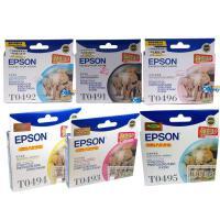爱普生 T0491 T0492 T0493 T0494 T0495 T0496 六色套装 墨盒 适用于 RX230 R210 R310
