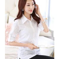 新款开衫韩版修身显瘦时尚百搭长袖蕾丝雪纺衫上衣打底