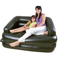 多功能双人充气沙发床 舒适靠背床实用时尚便携躺椅
