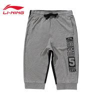 李宁男子BAD FIVE篮球纯棉卫裤七分裤男运动裤AKQL025