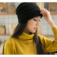 韩版潮流休闲帽时尚针织女帽子   加厚加绒保暖毛线帽