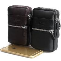 手机包真皮腰包男士5寸5.3寸5.5寸手机包苹果6plus牛皮腰包