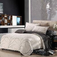 优雅100纯棉四件套 全棉环保印花床单被套床上用品四件套生机绽放