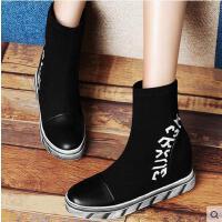 古奇天伦 内增高女鞋 字母女鞋 高帮女靴子8278