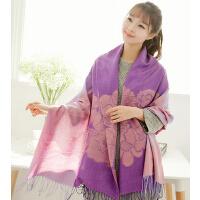 新款韩版时尚休闲花围巾女士长款百变披肩纱巾多用