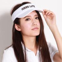 帽子女士网球帽空顶太阳帽韩版时尚潮防晒户外运动出游