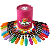 当当自营JoanMiro 美乐 贝贝鼠丝质旋转蜡笔 24色 画笔文具 宝宝玩具 儿童笔 JM08107