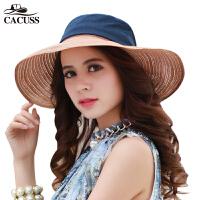 CACUSS新品甜美气质太阳帽夏天遮阳帽女女士帽韩版防�鸪泵弊优�帽C0047