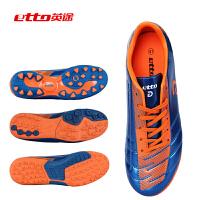 送球袜etto英途男女通用成人儿童用TF钉多钉碎钉PU防滑足球鞋训练用运动鞋