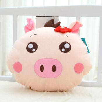可爱萌猪头暖手抱枕暖手捂 情侣毛绒玩具猪猪一对 创意生日礼物女