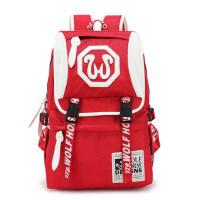 新款双肩包韩版潮书包学院风男女背包休闲旅行包中学生电脑包