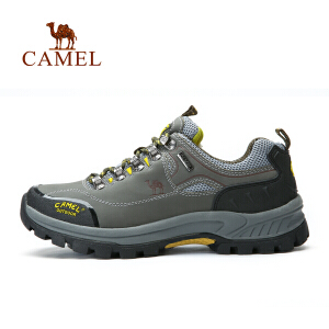 camel骆驼户外智能登山鞋减震防滑耐磨低帮牛皮休闲徒步登山鞋